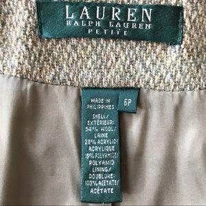 Lauren Ralph Lauren Jackets & Coats - Lauren by Ralph Lauren celadon/cream wool blazer